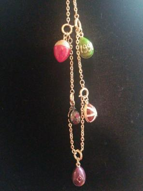 Used, 5 Joan Rivers Faberge Egg Pendants for sale