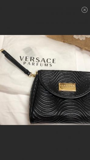 New Versace Parfums Quilted Clutch Bag for sale