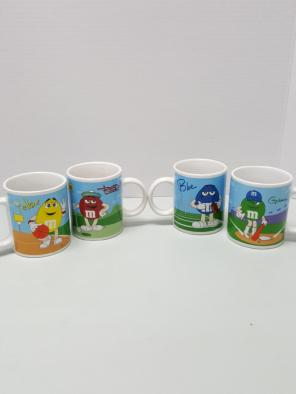 M&M's 4 pc collectible coffee mugs for sale