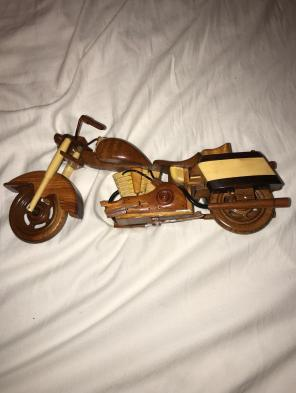 Handcrafted Wooden Motorcycle for sale
