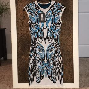 NWT RVN Haida Flat Jacq Sheath Dress for sale