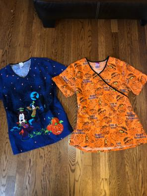 disney disney scrubs medium halloween