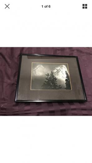 Ansel Adams Eagle Peak & Middle Art for sale