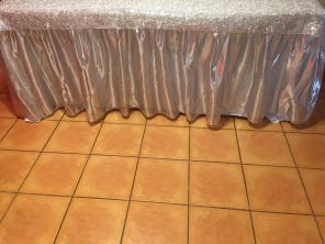 Metal Silver Table Skirt for sale