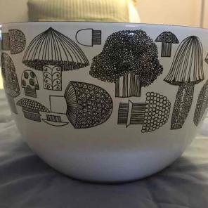 Kaj Franck enamel mushroom bowl (1950's) for sale