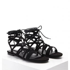 cf8f209f57ad Forever 21 Black Gladiator Sandals