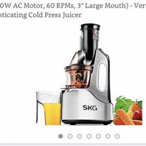 SKG Juicer Slow Masticating Juicer for sale