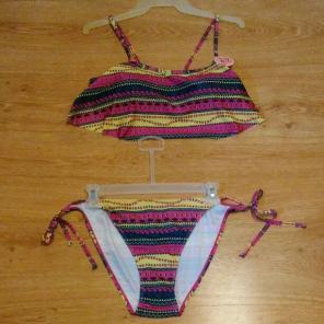 NWT womens L 2pc swimsuit/bikini, used for sale