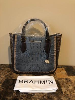 db3dd921a0 Brahmin Small Lena Satchel Mallard Davos