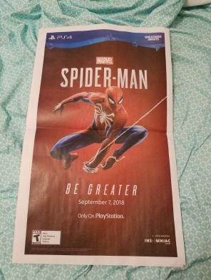 Sdcc Spider-Man video game promo for sale