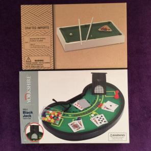 Used, Desktop Pool Table And Mini Black Jack for sale