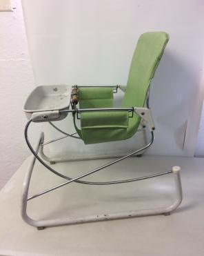 Vintage Baby Bouncer Seat Prop Doll for sale