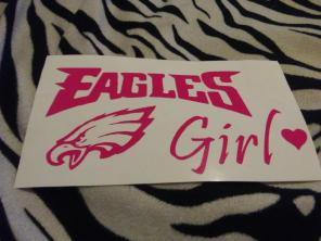 Eagles Girl Car Decal Sticker football for sale