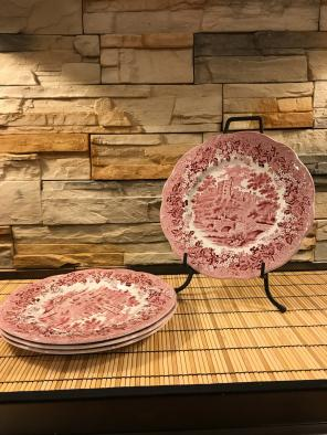 """Used, Set Of 4 J.&G. Meakin Dinner Plates 10"""" for sale"""