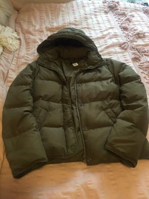 J Crew Puffer Jacket Green Small Xs for sale