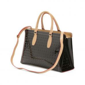 Arcadia Italian Patent Leather Xl Tote