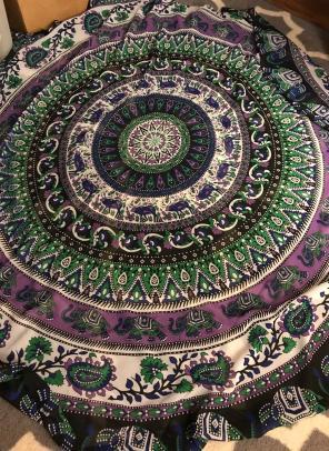 Hippie Mandala Elephant Tapestry for sale