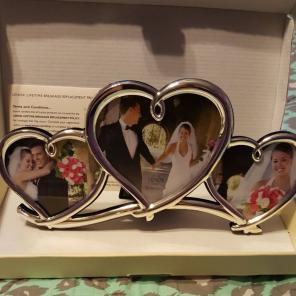 Lenox Forevermore triple heart frame NIB for sale