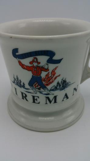 Vintage fireman firefighter shaving mug for sale