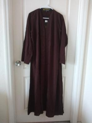 NWT-Linen abaya and scarf, used for sale