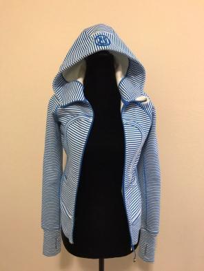 Blue Striped Lulu Scooba Hoodie for sale