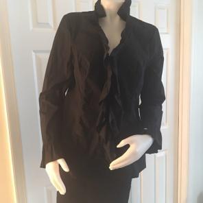 Inc black ruffle jacket