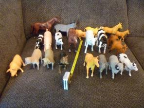 21 Barn Farm Animals Lot Horse Cow Sheep, used for sale