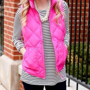 J. Crew Retail Excursion Vest in Pink, used for sale