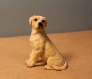 Vintage Labrador Dog Figurine Statue Toy for sale