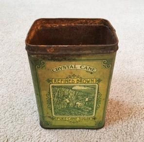 Vintage Cheinco Crystal Cane Sugar Tin for sale