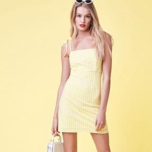 Pacsun Lottie Moss Yellow Gingham Dress 8937605da