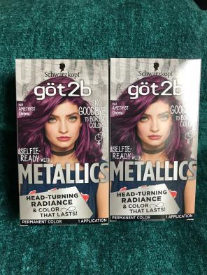 Schwarzkopf Got2b Amethyst Hair Dye, used for sale