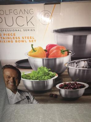 Wolfgang Puck Stainless Steel Bowl Set for sale
