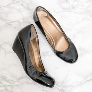 beb12989323e BCBGeneration Patent Leather Wedge Heels