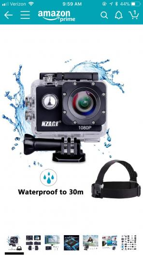Waterproof Action Camera- Like GoPro, used for sale