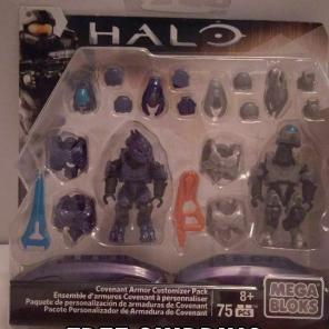 Used, Mega blocks halo covenant armor pack for sale