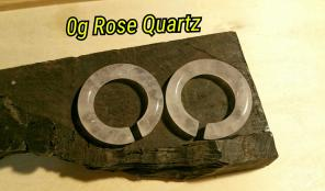 Rose Quartz Hoops Ear Weights 0g~00g~1/2 for sale