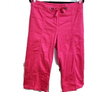 b6bf5c1f643 Plus Size Rafaella Pink Capris Pants