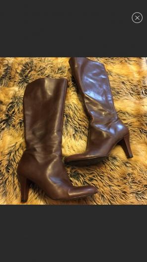 9cdfca9093c7 Gianni Bini Leather Upper Boots Mercari