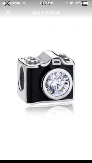 Adorable Camera Slider Charm for sale