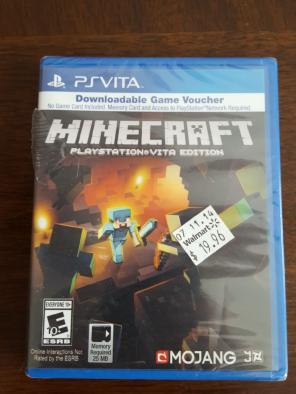 Minecraft PS Vita brand new sealed for sale