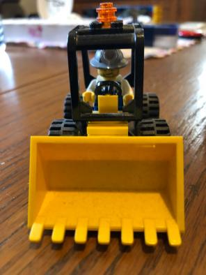 LEGOS Construction Worker with Tractor for sale