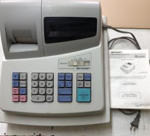 Used, SHARP electronic Cash Register for sale