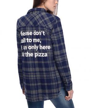 Jac Vanek Pizza Flannel for sale