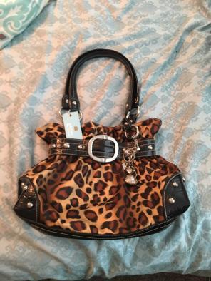 Kathy Van Zeeland Leopard Handbag