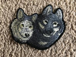Wolf Iron On Patch Embroidery Clothes, used for sale