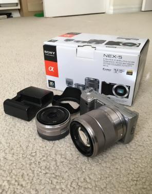 Sony NEX-5 14.2MP Digital Camera, used for sale